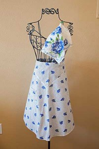 Vintage and new aprons offered in Lemora's Gift Collection.