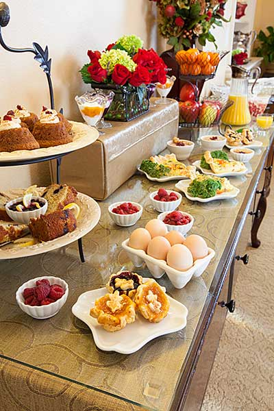 Delicious complimentary farm to table buffet breakfast.